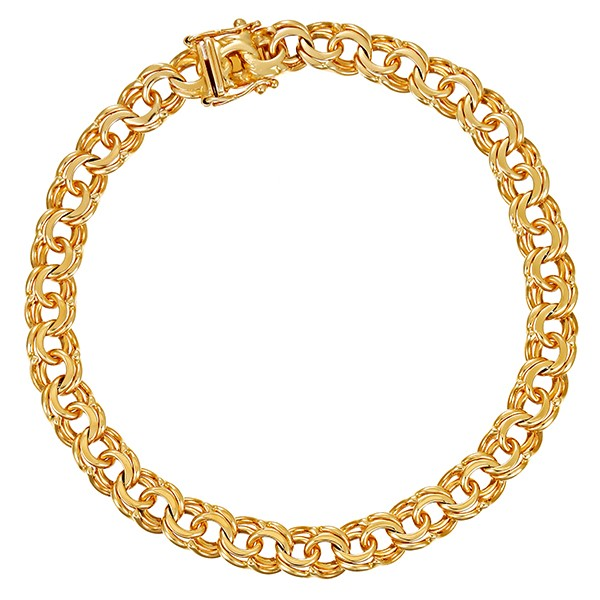 Armband 585 / 17,80gr Gelbgold L 20,5 cm Garibaldi- Detailbild #1