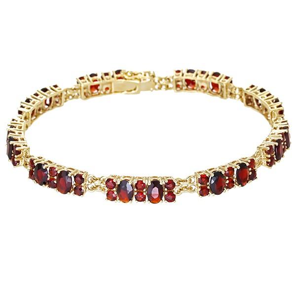 Armband 333 / 13,00gr Gelbgold L 19 cm 72 Granate Detailbild #1