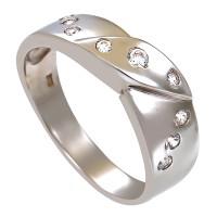 Ring,14K,Gelb/Weißgold, Zirkonia Detailbild #1