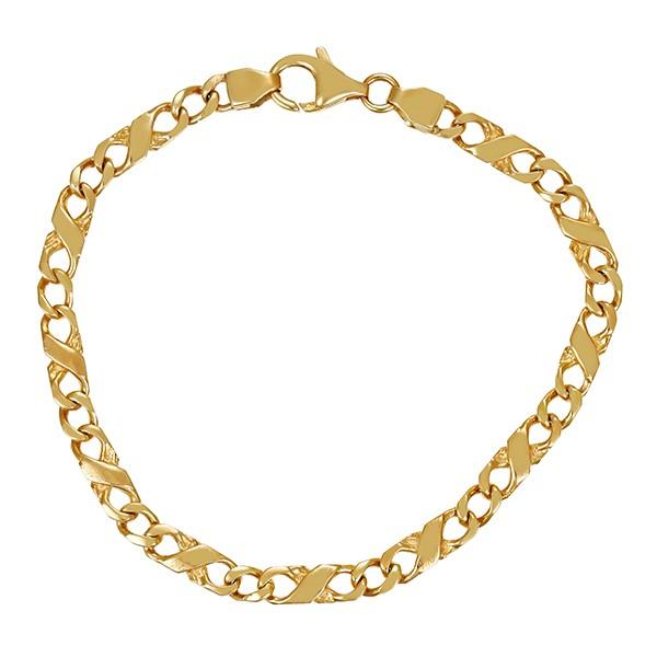 Armband 333 / 8,80gr Gelbgold L 19,5 cm Fantasie- Detailbild #1