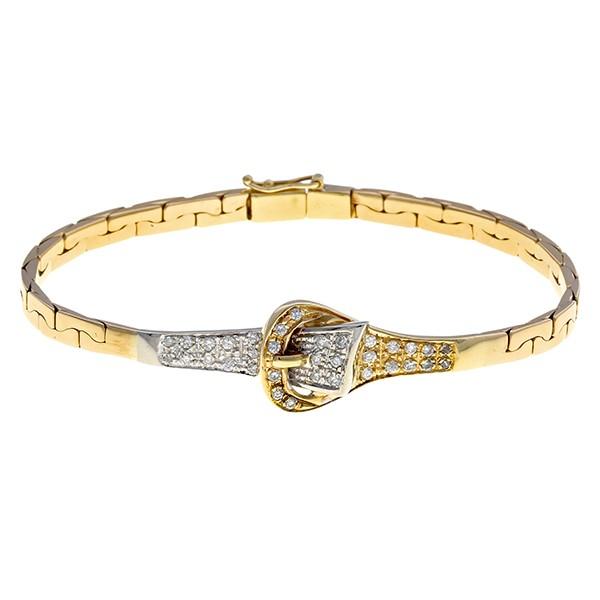 Armband 585 / 18,20gr Gelb-/Weißgold L 19 cm 34 Brill. z.ca. 0,68ct Detailbild #1
