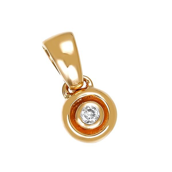 Anhänger 585 / 3,00gr Gelbgold Clip 1 Brill. ca. 0,10ct gW (K-L) P Detailbild #1
