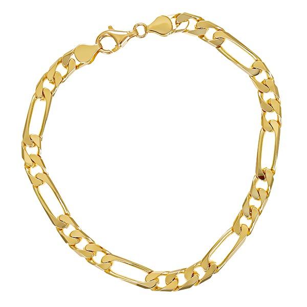 Armband 585 / 18,60gr Gelbgold L 23 cm Figaro- Detailbild #1