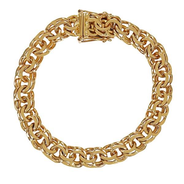 Armband 585 / 45,60gr Gelbgold L 20 cm Garibaldi- Detailbild #1