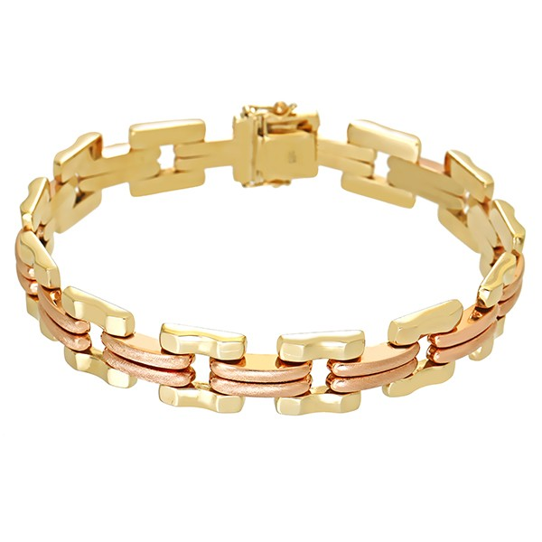 Armband 585 / 19,80gr Gelbgold/Rotgold L 19,5 cm Detailbild #1