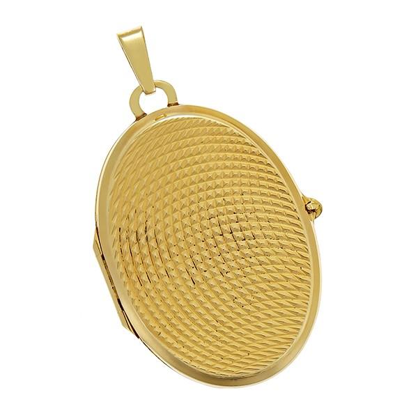 Anhänger 333 / 9,80gr Gelbgold Medaillon Detailbild #1