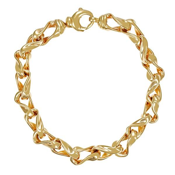 Armband 585 / 27,30gr Gelbgold L 22 cm Fantasie- Detailbild #1