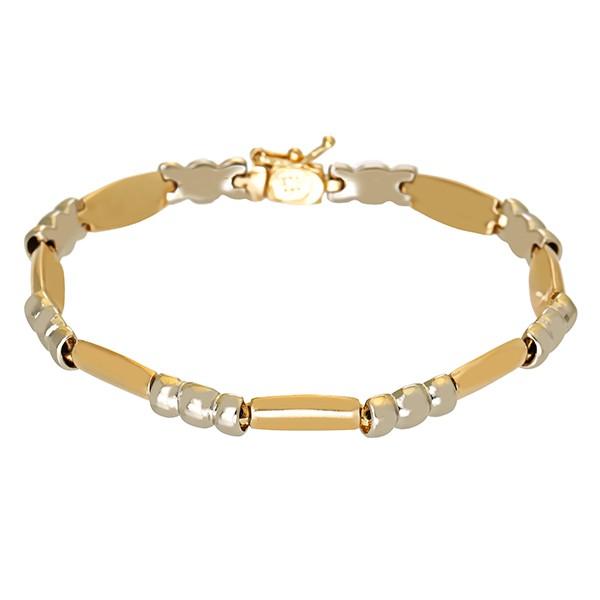 Armband 585 / 14,50gr Gelb-/Weißgold L 17,5cm Detailbild #1