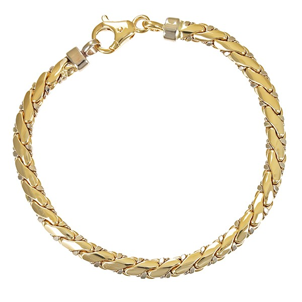 Armband 585 / 9,90gr Gelbgold L 18 cm Fantasie- Detailbild #1