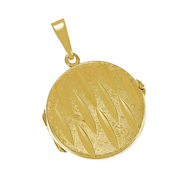 Anhänger 585 / 6,70gr Gelbgold Medaillon Detailbild #1
