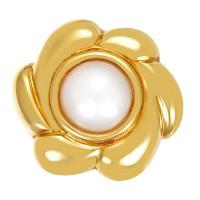 Ohrschmuck 750 / 26,60gr Gelbgold Ohrclipse 2 Mabe-Perlen Detailbild #1