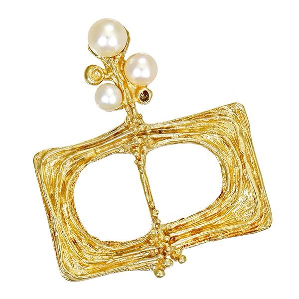 Anhänger 585 / 11,40gr Gelbgold 3 Perlen Detailbild #1