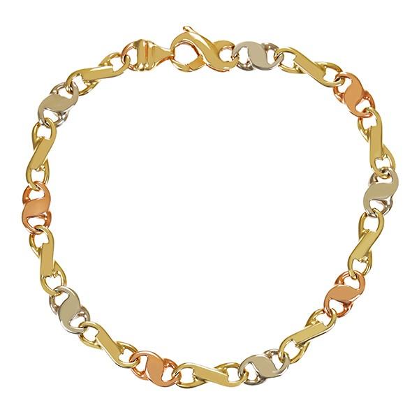 Armband 585 / 10,30gr Rot-/Weiß-/Gelbgold L 20 cm Detailbild #1