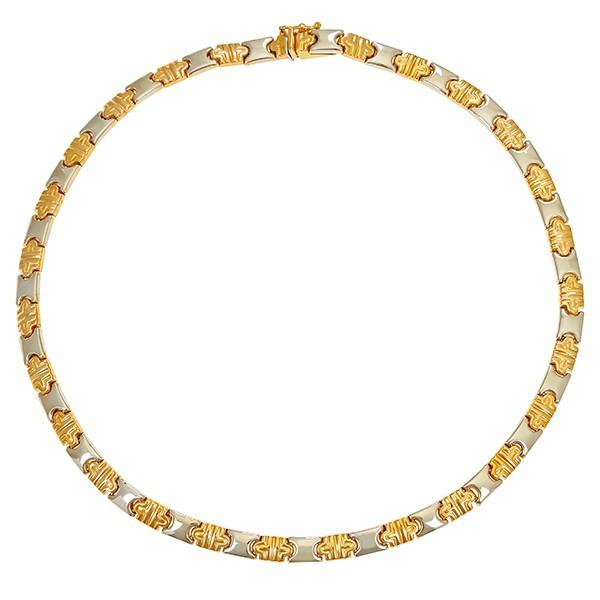 Collier 750 / 27,20gr Gelb-/Weißgold L 39,5 cm Detailbild #1