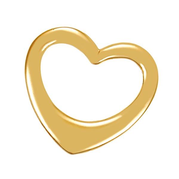 Anhänger 585 / 5,60gr Gelbgold Herz Detailbild #1