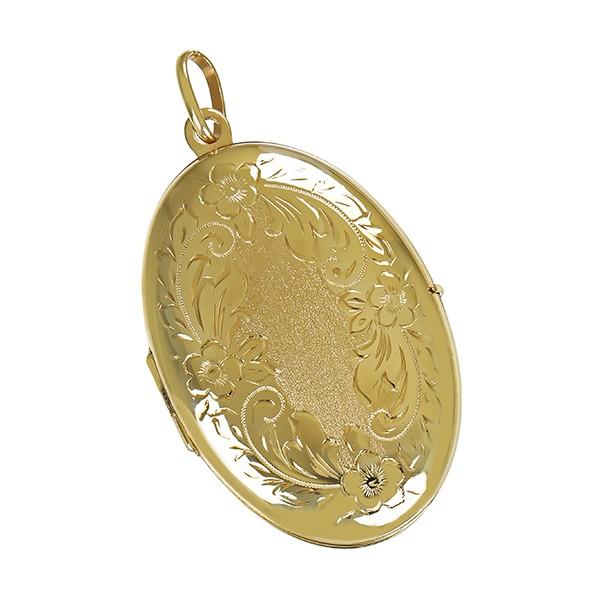 Anhänger 333 / 11,50gr Gelbgold Medaillon Detailbild #1
