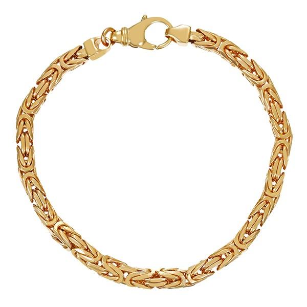 Armband 585 / 34,40gr Gelbgold L 21 cm Königs- Detailbild #1