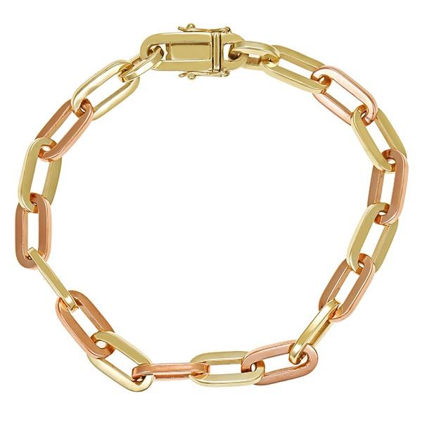 Armband 585 / 29,80gr Gelbgold/Rotgold Anker- L 21 cm Detailbild #1