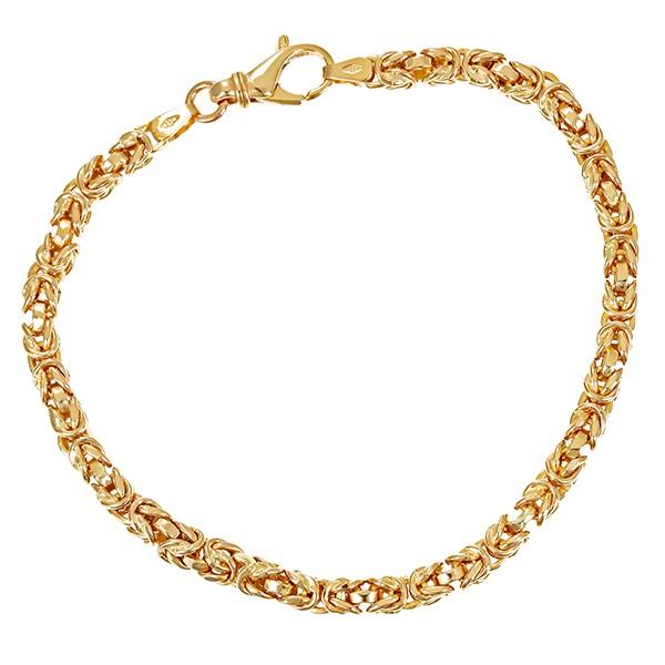 Armband 585 / 7,30gr Gelbgold L 20 cm Königs- Detailbild #1