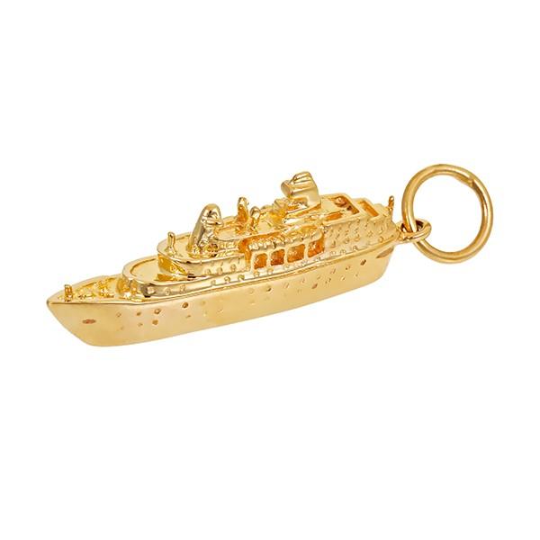 Anhänger 585 / 3,90gr Gelbgold Schiff Detailbild #1