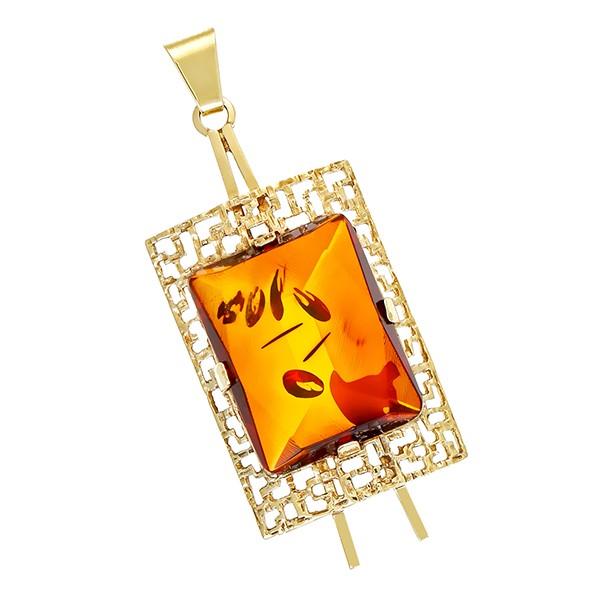 Anhänger 333 / 4,90gr Gelbgold 1 Bernstein Detailbild #1