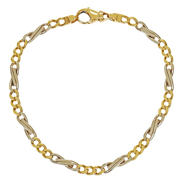 Armband 750 / 11,50gr Gelb-/Weißgold L 21 cm Detailbild #1
