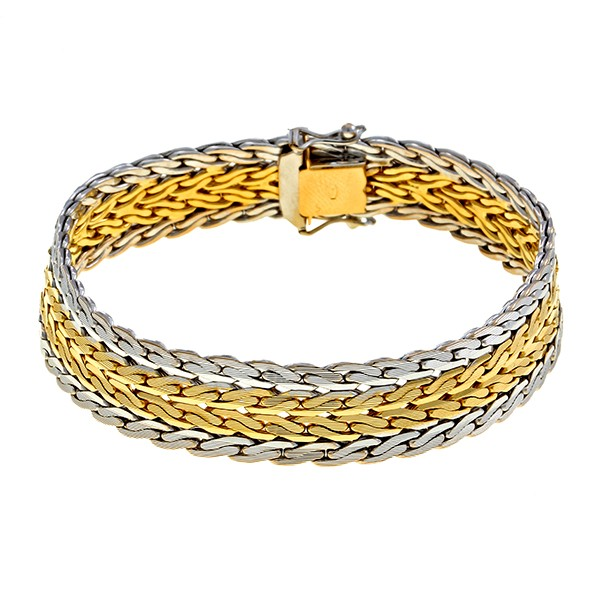 Armband 750 / 39,60gr Gelb-/Weißgold L 19 cm Fantasiemuster Detailbild #1