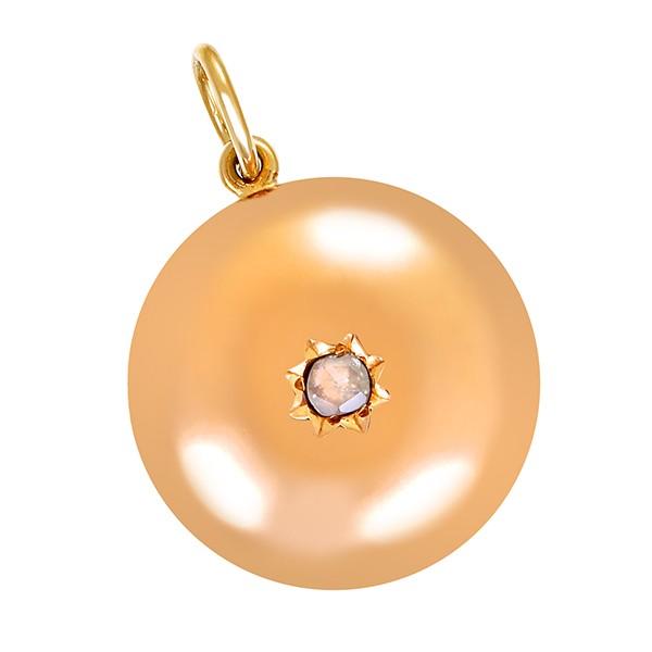 Anhänger 585 / 3,30gr Gelbgold 1 Diamantrose Detailbild #1