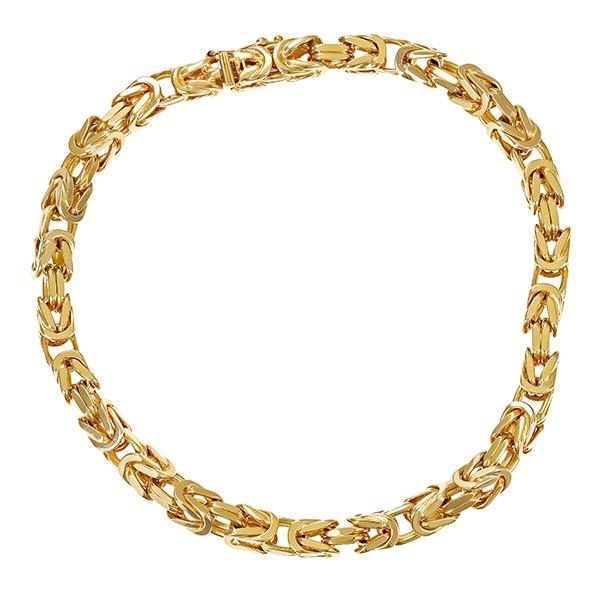 Armband 585 / 30,10gr Gelbgold L 22 cm Königs- Detailbild #1