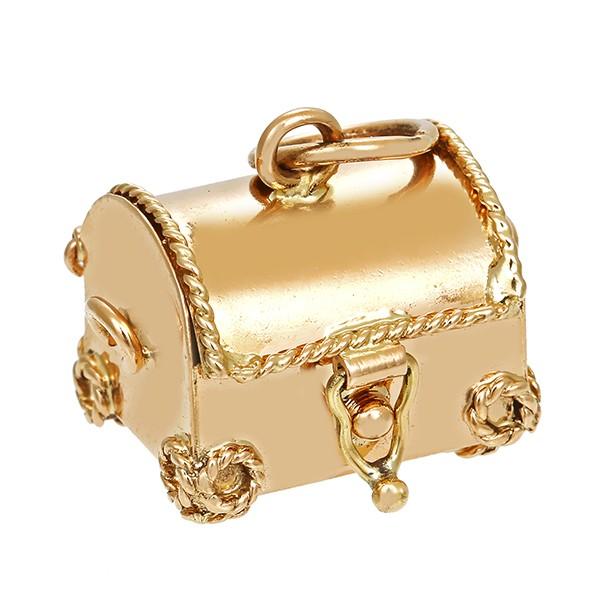 Anhänger 750 / 6,20gr Gelbgold Truhe 1 Perle Detailbild #1