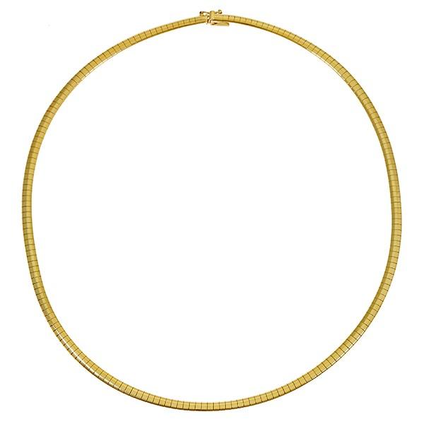 Collier 585 / 23,80gr Gelbgold L 43,5 cm Omega- Detailbild #1