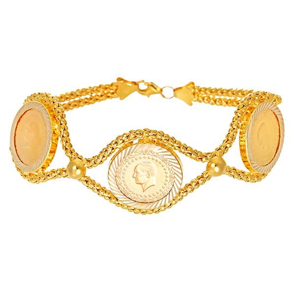 Armband 585 / 13,50gr Gelbgold enthält ca. 916/5,4g Muenze L 19 cm Detailbild #1