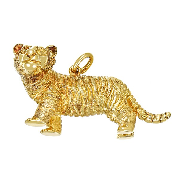 Anhänger 585 / 12,10gr Gelbgold Tiger Detailbild #1