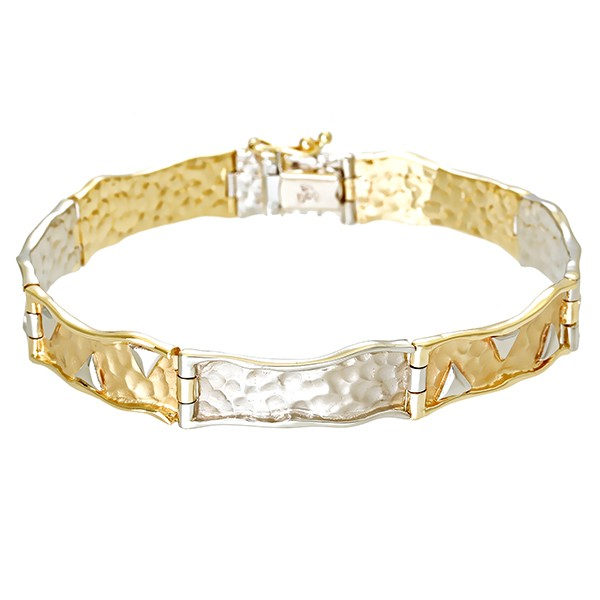 Armband 585 / 19,70gr Gelb-/Weißgold L 19 cm Detailbild #1