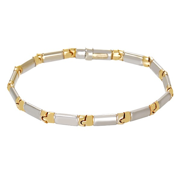 Armband 585 / 14,90gr Gelb-/Weißgold L 20 cm Detailbild #1