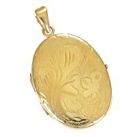 Anhänger 585 / 6,80gr Gelbgold Medaillon Detailbild #1