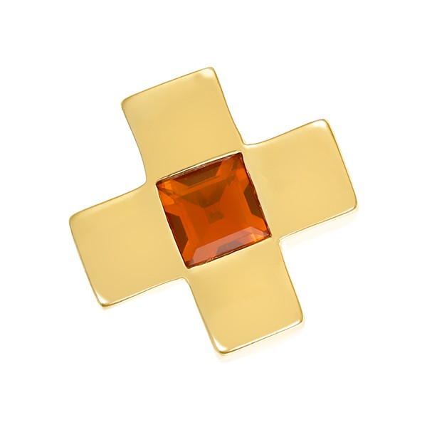 Anhänger 750 / 7,00gr Gelbgold Kreuz 1 Citrin Detailbild #1