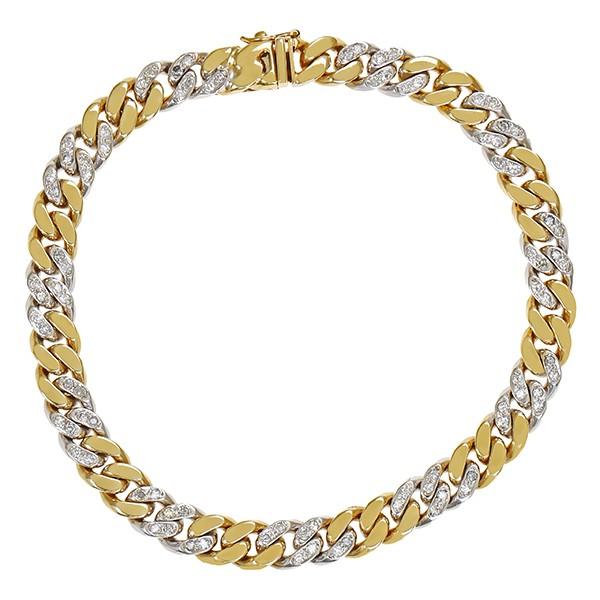 Armband 585 / 21,90gr Gelb-/Weißgold L 18,5 cm 88 Brill. z.ca. 0,88ct Detailbild #1