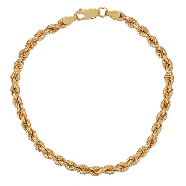 Armband 750 / 5,60gr Gelbgold L 21,5 cm Kordel- Detailbild #1
