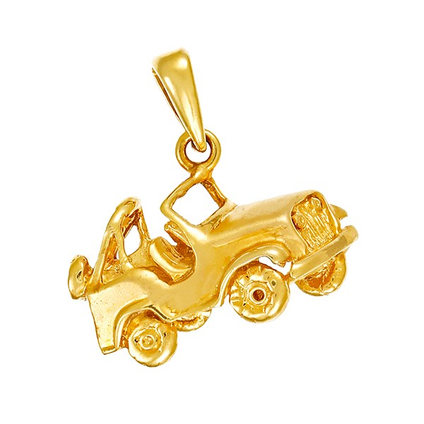 Anhänger 585 / 3,20gr Gelbgold Auto Detailbild #1
