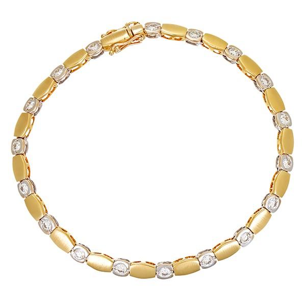 Armband 750 / 16,80gr Gelb-/Weißgold L 20 cm 18 Brill. z.ca. 1,80ct lgW (I-J) VS-SI Detailbild #1
