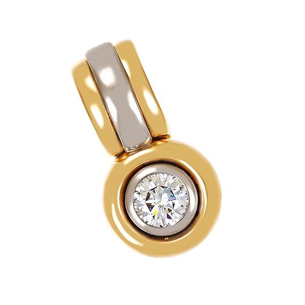 Anhänger 750 / 12,70gr Gelb-/Weißgold Fremdzertifikat 1 Brill. ca. 0,78ct W (H) SI Clip Detailbild #1