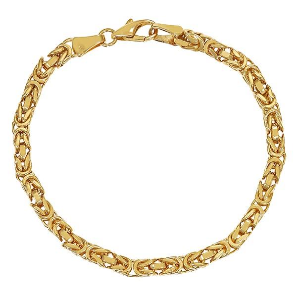 Armband 585 / 22,00gr Gelbgold L 19,5 cm Königs- Detailbild #1