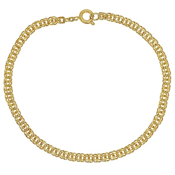 Armband 585 / 4,30gr Gelbgold L 19 cm Garibaldi- Detailbild #1