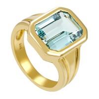 Damenring 585 / 10,80gr Gelbgold Umfang 57 1 Aquamarin Detailbild #1