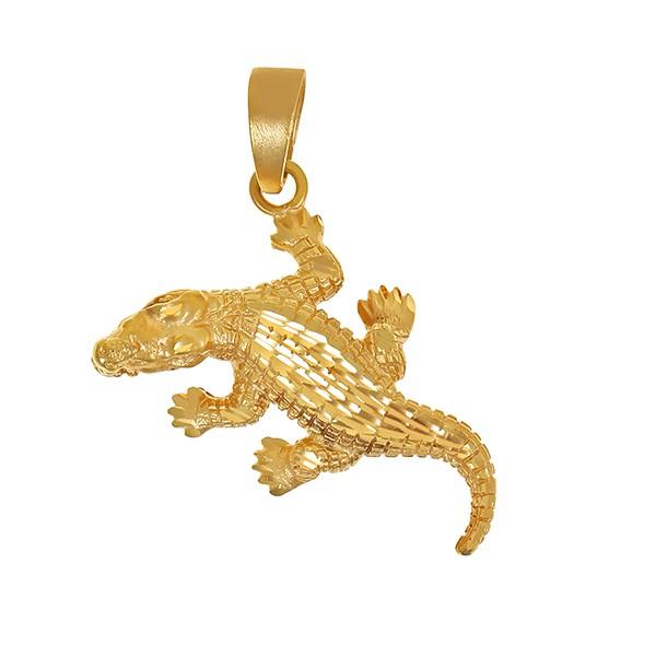 Anhänger 585 / 6,00gr Gelbgold Krokodil Detailbild #1
