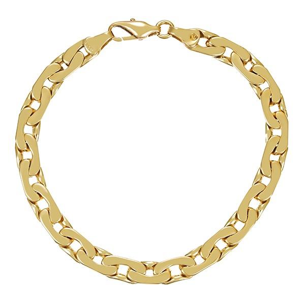 Armband 585 / 24,80gr Gelbgold L 20 cm Flachanker- Detailbild #1