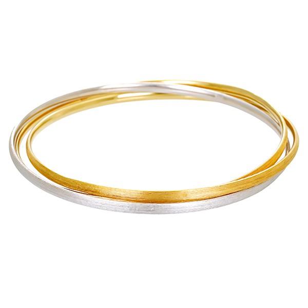 Armreif 585 / 30,00gr Gelb-/Weißgold Detailbild #1