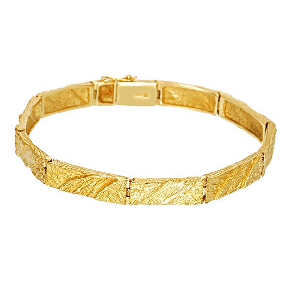 Armband 585 / 21,30gr Gelbgold Fantasie- L 18 cm Detailbild #1