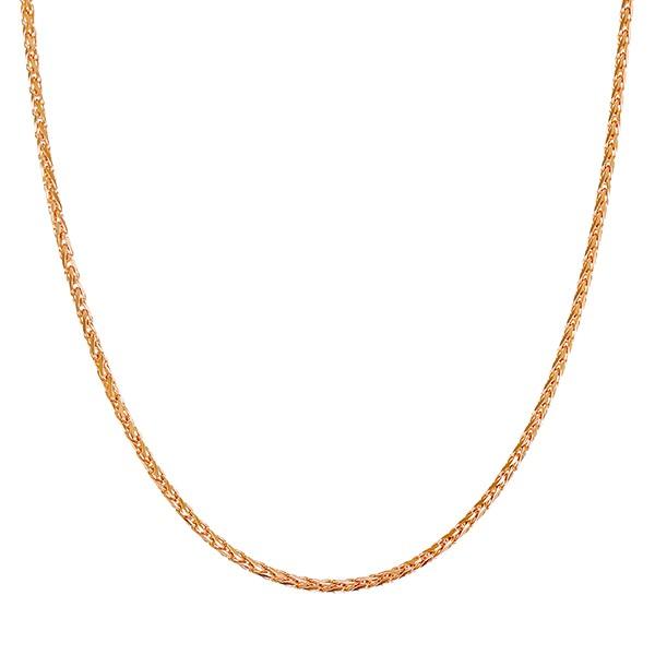 Collierkette 585 / 7,10gr Rotgold L 51 cm Zopf- Detailbild #1
